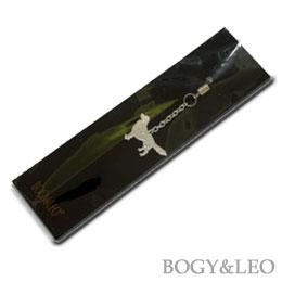 ゴールデンレトリーバーのシルバー携帯ストラップ パッケージ
