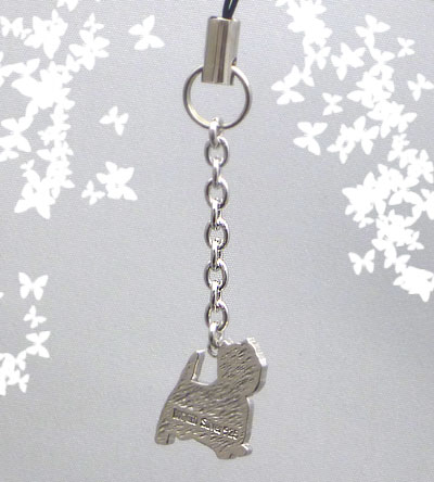 ウェスト・ハイランド・ホワイトテリア犬携帯ストラップ