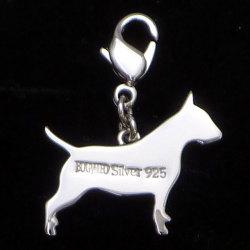 セレブドッグの犬モチーフジュエリー シルバーパヴェチャーム ブルテリア ¥10,500(税込)